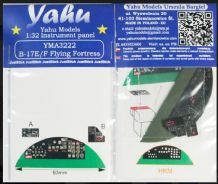 Yahu Models YMA3222 1/32 PE Boeing B-17E/F Flying Fortress instrument panel HK